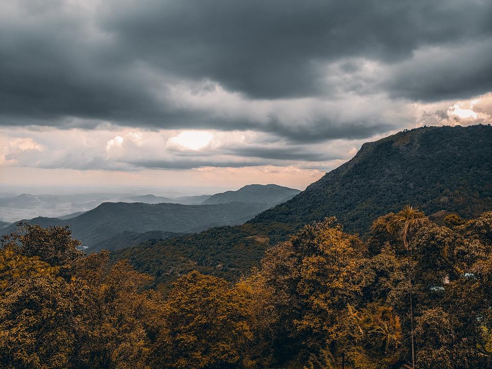 Landscape, Mountain, Nature, Sky, Clouds, Scenic, Hills