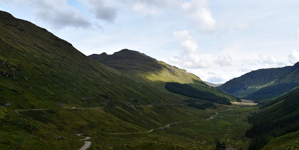 Hillside, Landscape, Scotland, Valley, Countryside