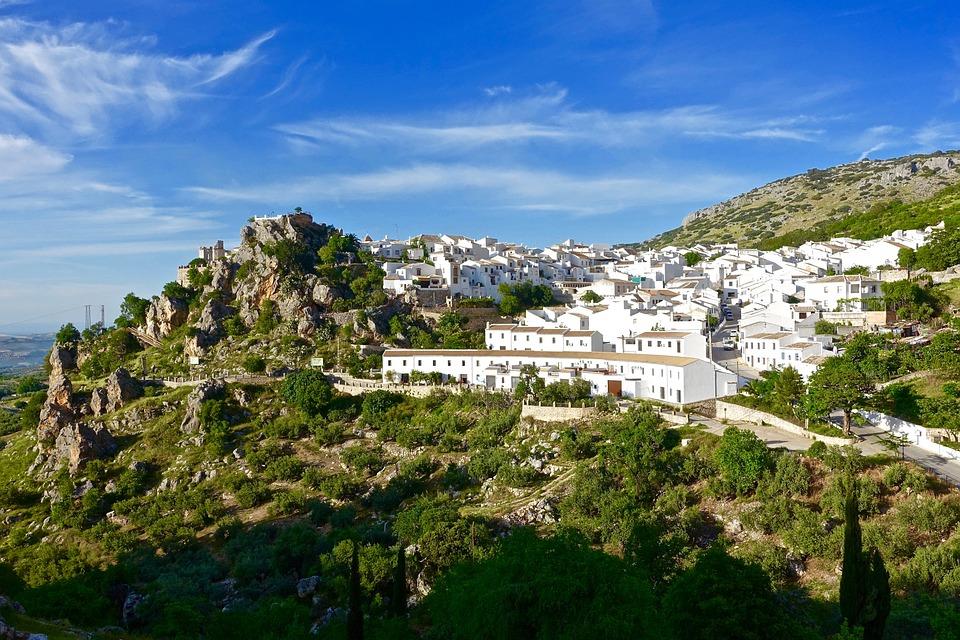 Zuheros, Spain, Village, White, Hillside
