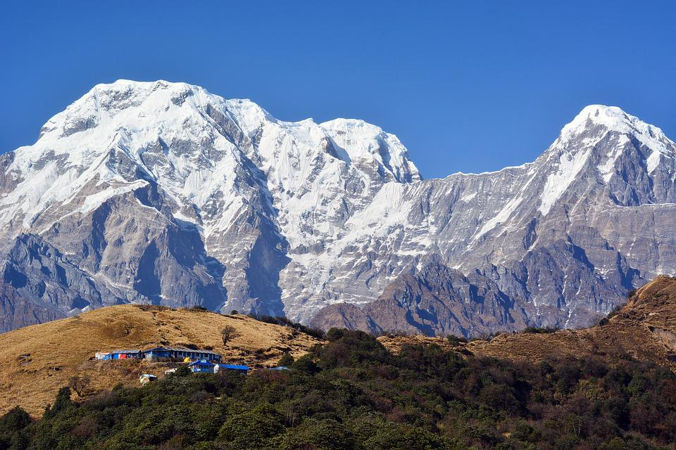 Himalaya, Village, Nepal, Mountains, Nature, Valley