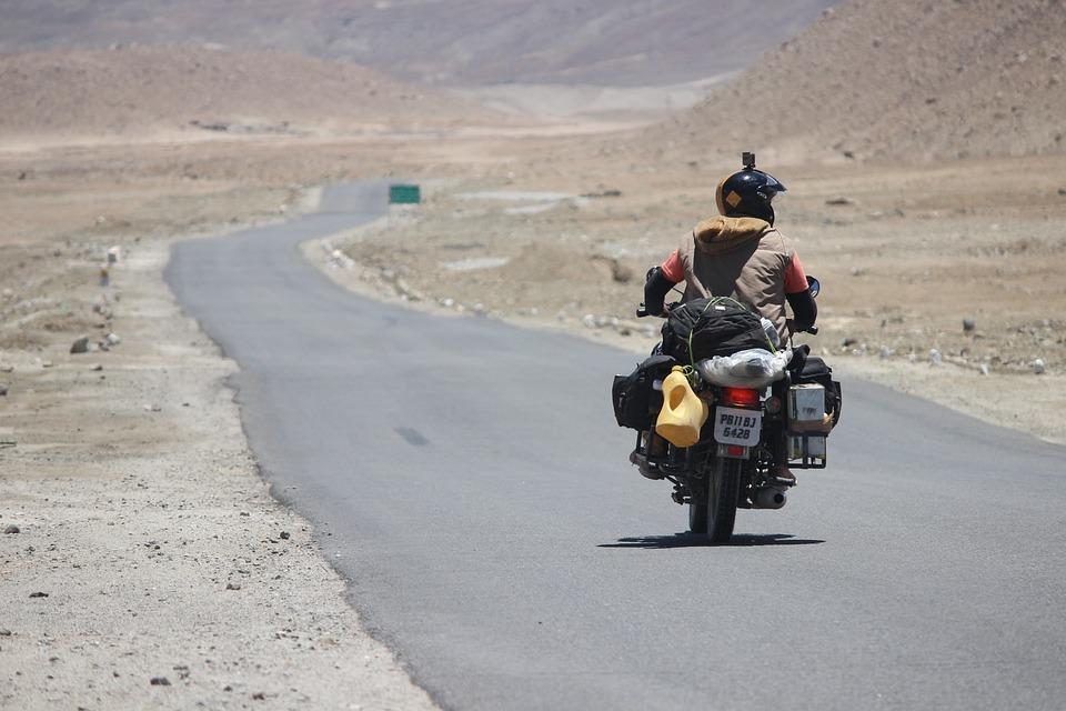 Rider, Himalyan, Bullet, Blue, Leh, Ladakh, Kashmir