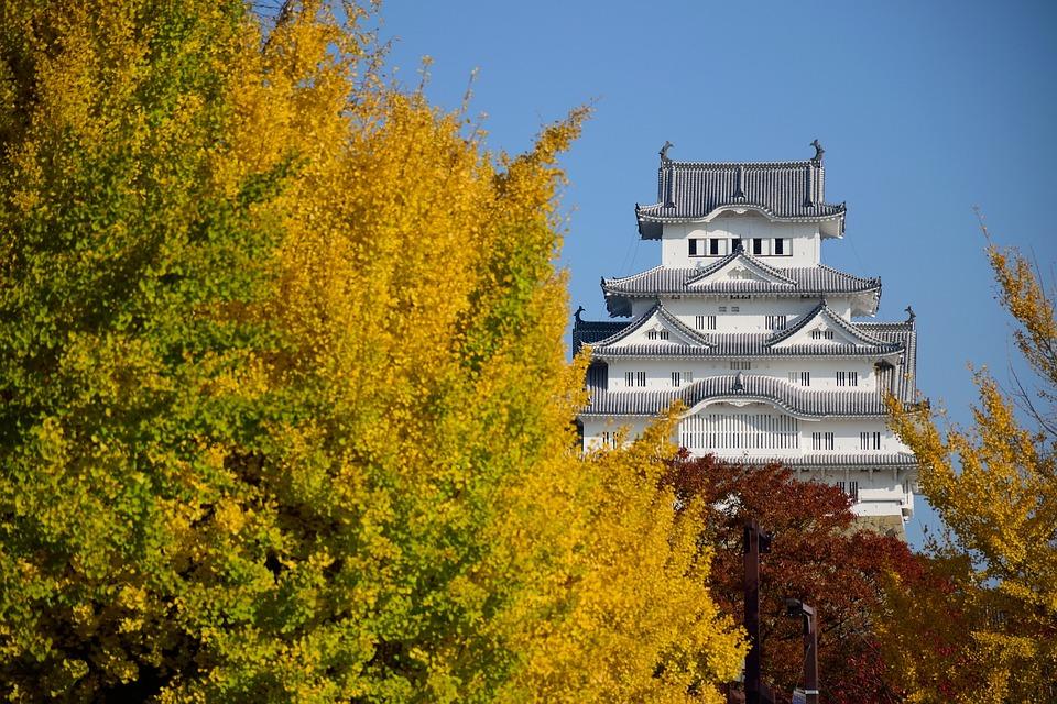 Himeji, Castle, Japan, Heritage, Tourism, Asia, Autumn