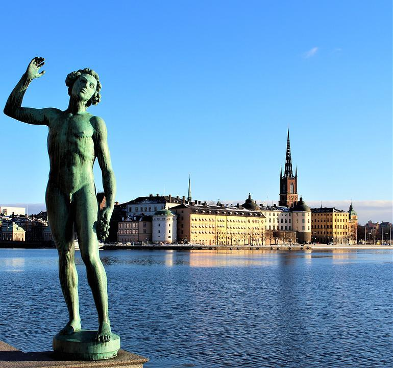 Statue, Architecture, Buildings, Water, Sea, Himmel