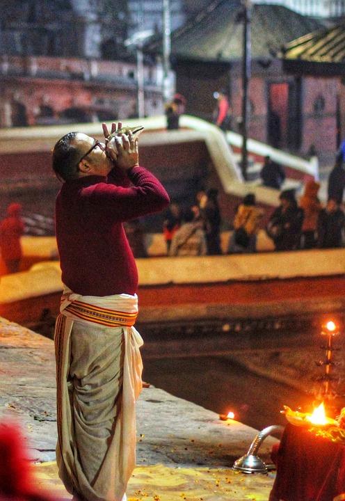 Aarati, Hindu, Ritual, Man, Nepalese, Worshipping, Yogi