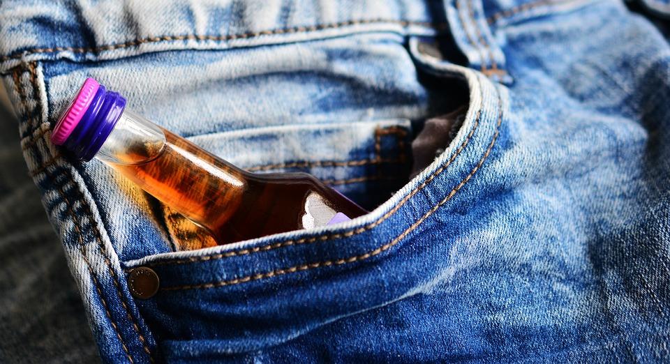 Pocket, Hip Flask, Brandy, Alcoholics
