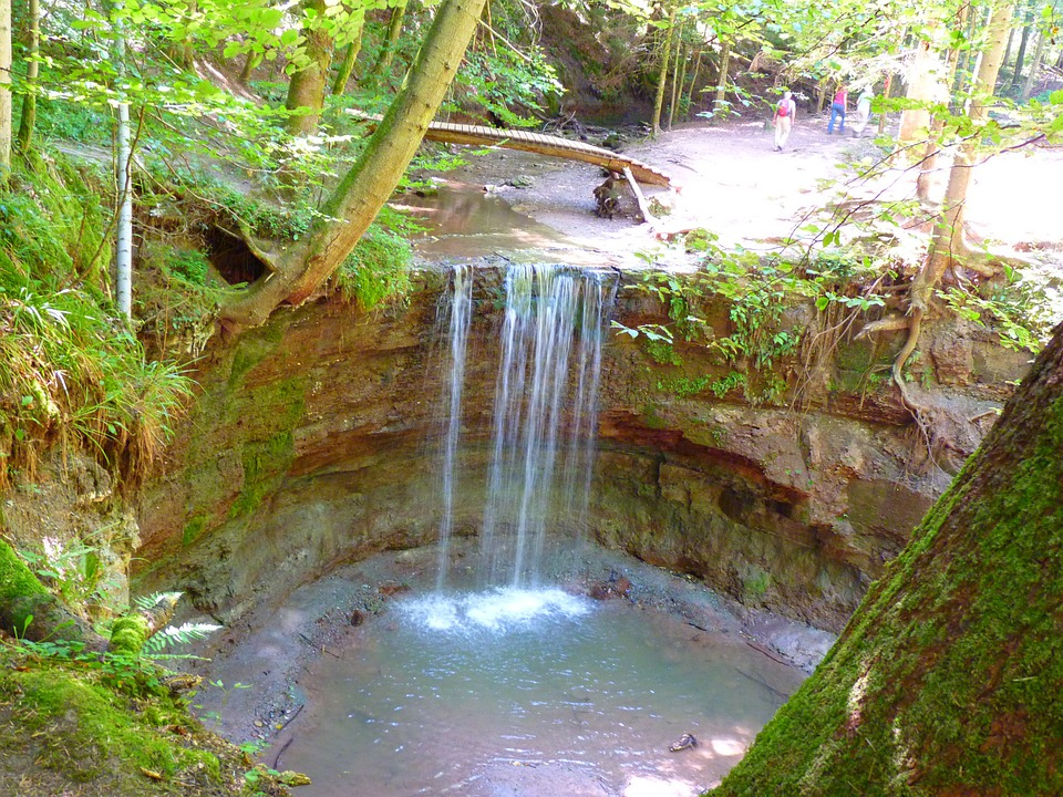 Water, Waterfall, Hirschbach