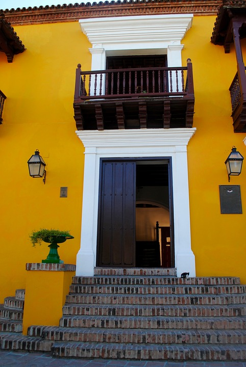 Architecture, Building, Colonial, Historic, Yellow