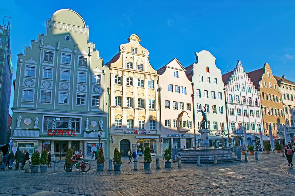 Augsburg, Bavaria, Germany, Swabia, Historic Center