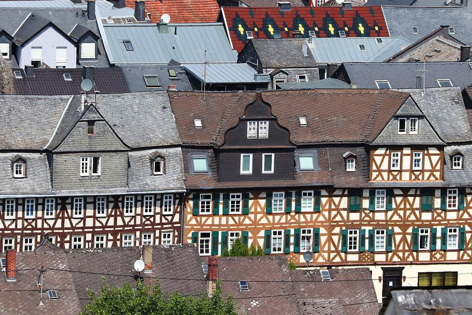 Historic Center, Fachwerkhäuser, Roofs, Historically
