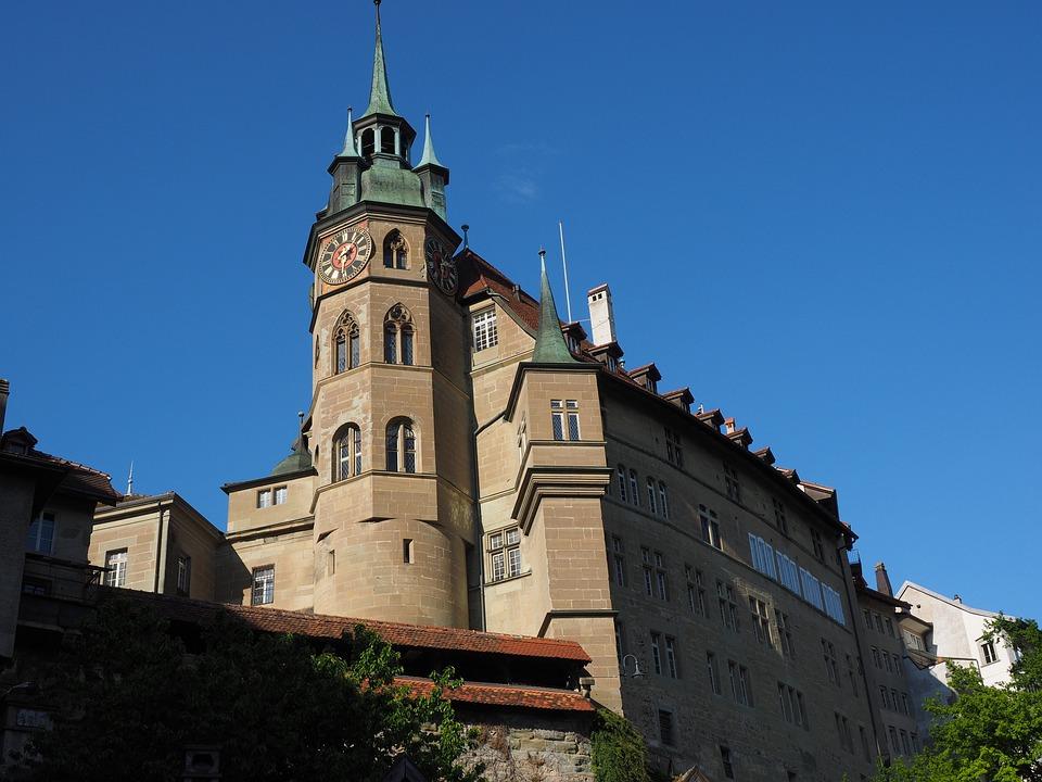 Town Hall, Fribourg, City, Switzerland, Historic Center