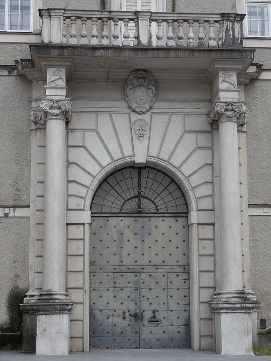 Door, Arch, Balcony, Entrance, Historic, Europe