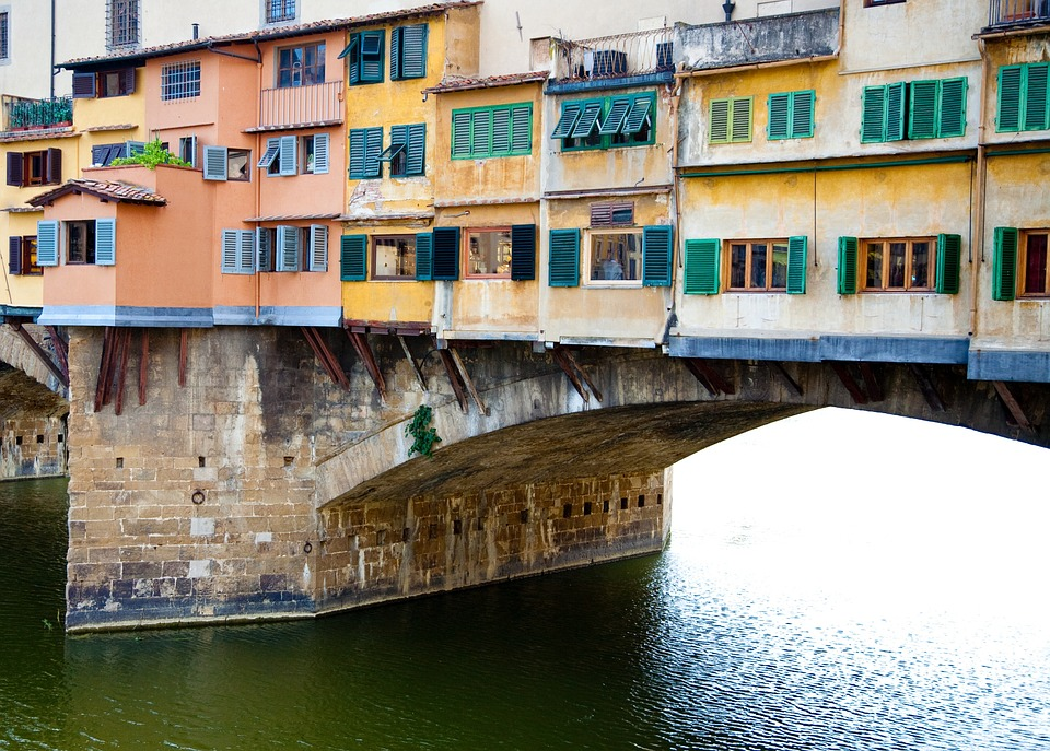 Italy, Bridge, European, Historic, Florence