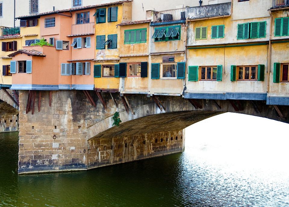 Italy, Bridge, European, Historic, Florence