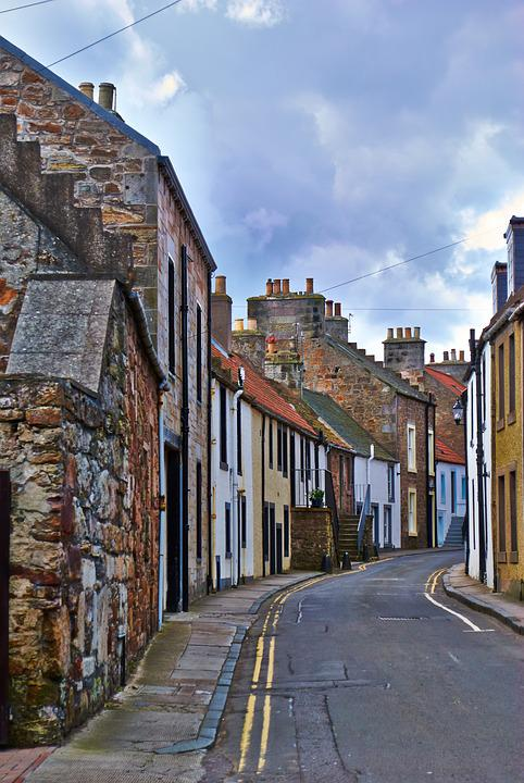 Anstruther, Street, East, Neuk, Fife, Harbour, Historic