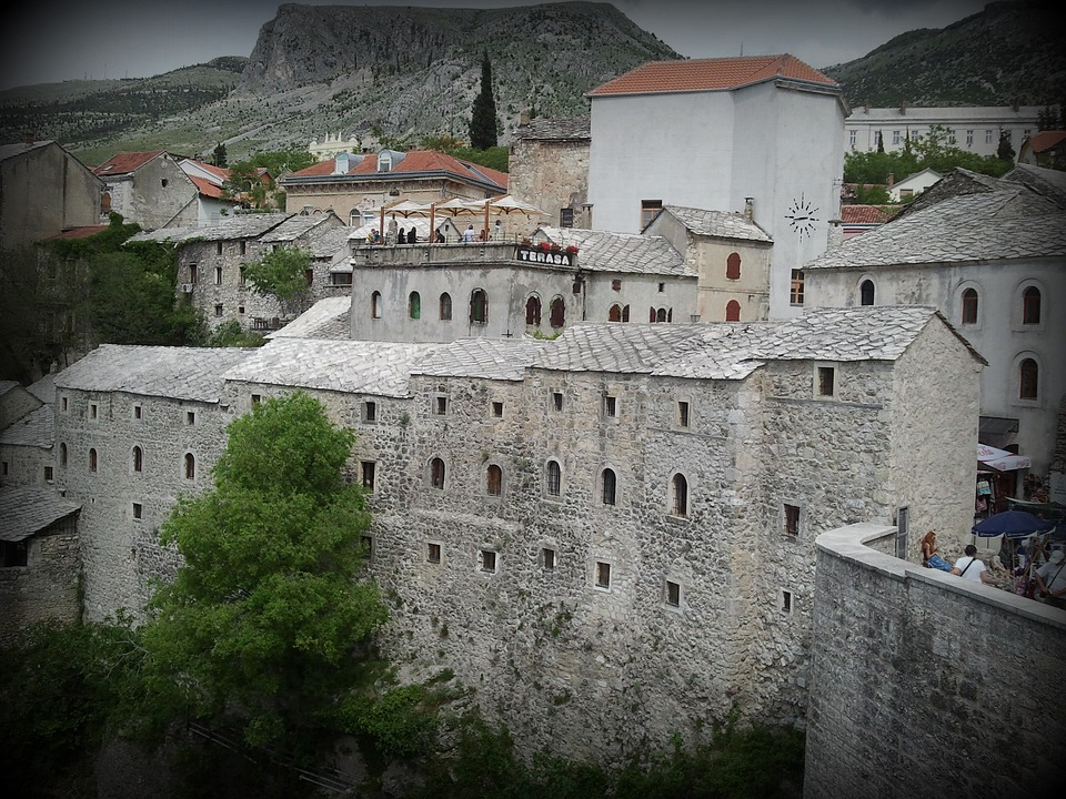 Mostar, Old Town, Historic, Cityscape, Medieval