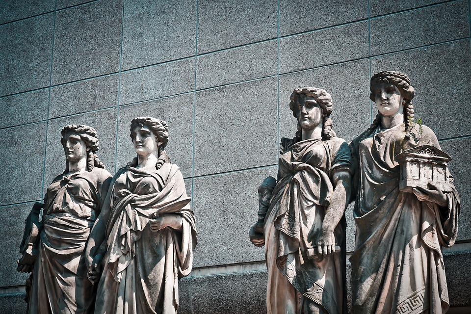 Statues, Stone, Ornament, Old, Historic Preservation