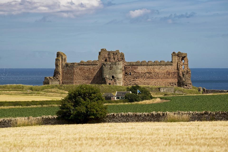 Tantallon Castle, Castle, Tantallon, Scotland, Historic