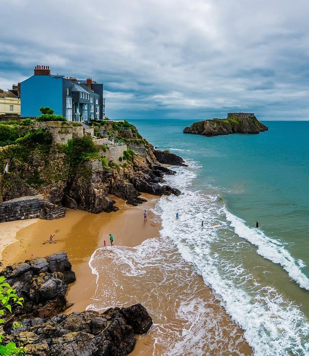 Tenby, Pembrokeshire, Wales, Coast, Summer, Historic