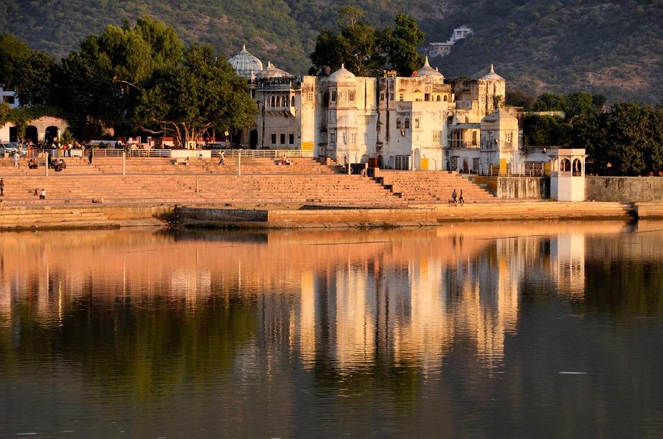 Pushkar, India, Lake, Historical, Building