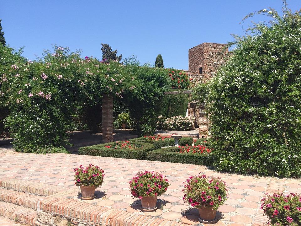 Malaga, Spain, Historical Center, Garden