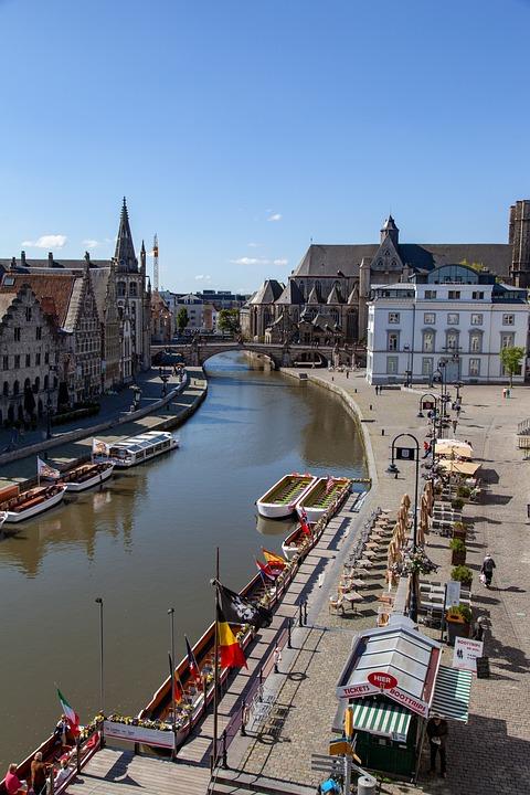 Ghent, Belgium, City, Historical, Medieval, European
