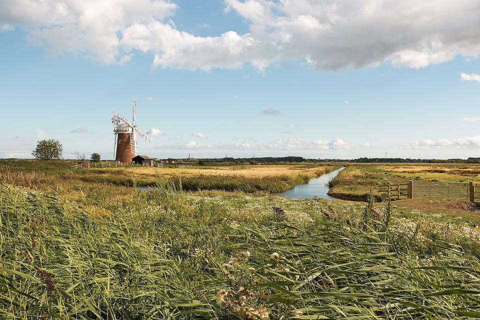 Windmill, Mill, Windpump, Landscape, Old, Historical