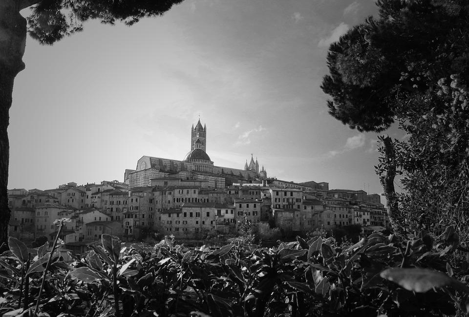 Sienna, View, Historical, Medieval, Italy, Architecture