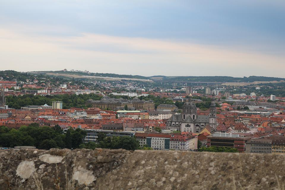 City, Würzburg, Historically, View, Germany, Churches