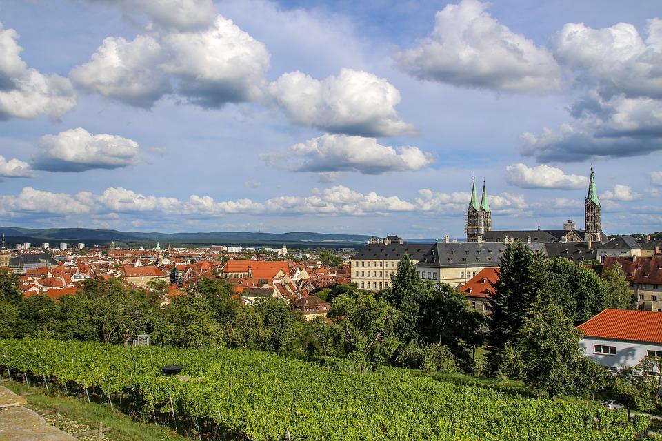 Bamberg, Sky, Historically, Dom, Clouds