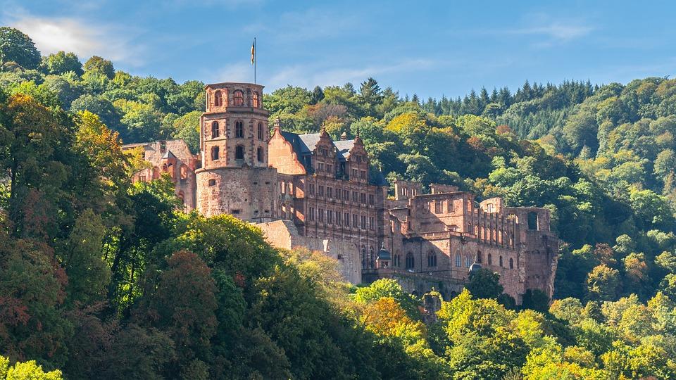 Castle, Fortress, Historically, Heidelberg