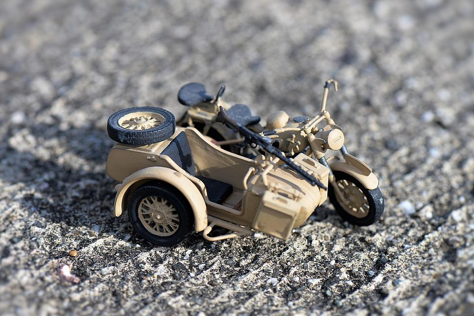 Model, Sidecar Machine, Motorcycle, Historically