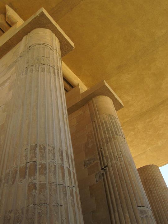 Pillar, Architecture, Egypt, Luxor, Historically