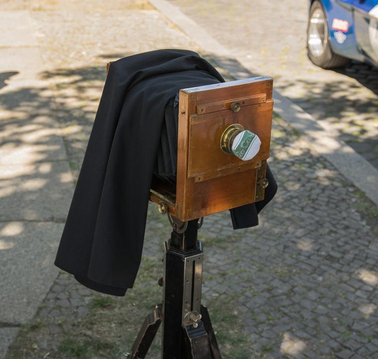 Camera, Plate Camera, Old, Analog, Historically
