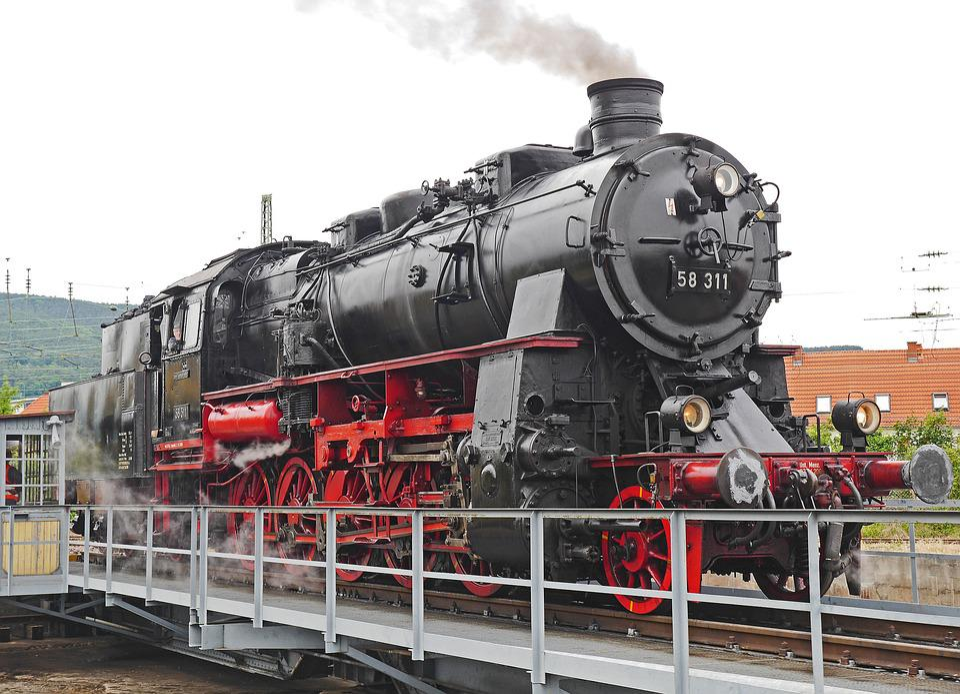 Steam Locomotive, Hub, Railway, Historically, Nostalgia