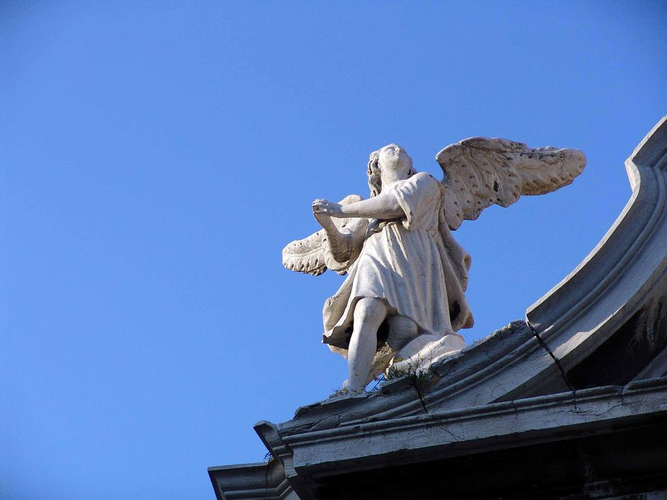 Angel, Sculpture, Building, Architecture, Historically