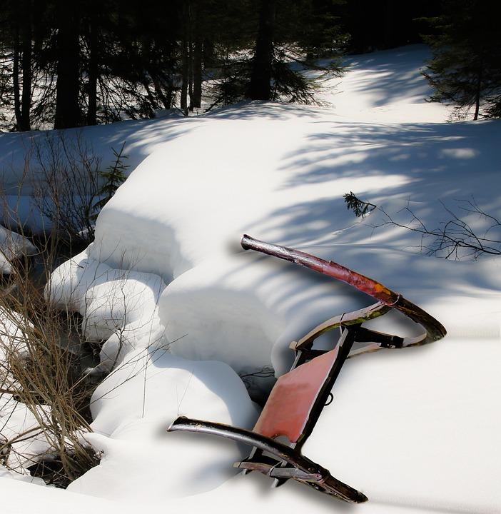 Slide, Winter, Snow, Old, Historically