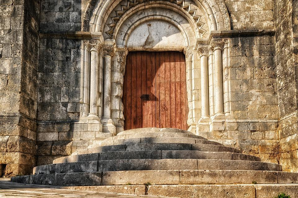Stairs, Goal, Gate, Church, Door, Rise, Historically