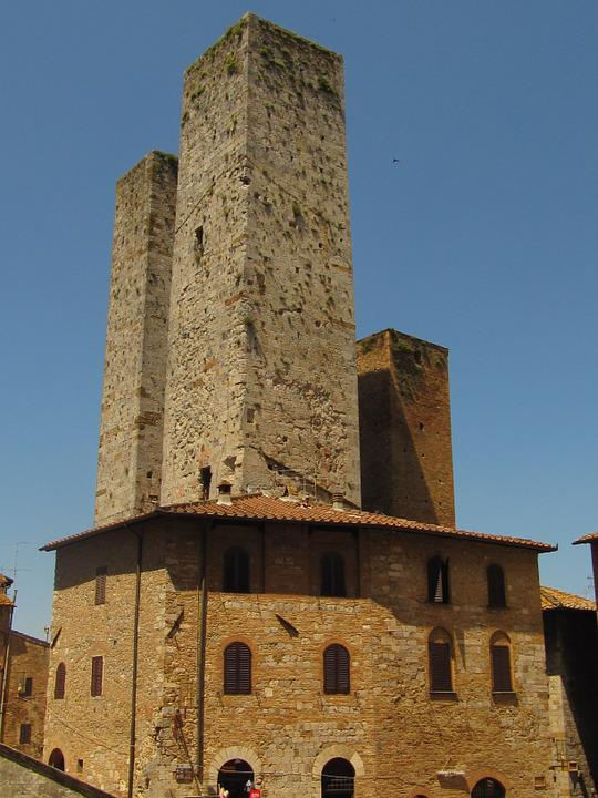 San Gimignano, Towers, Tuscany, Historically, Italy