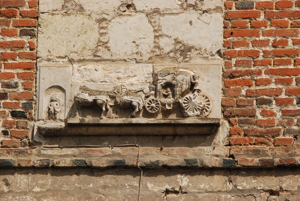 Facing Brick, Coach, Old, Expired, History, Wall