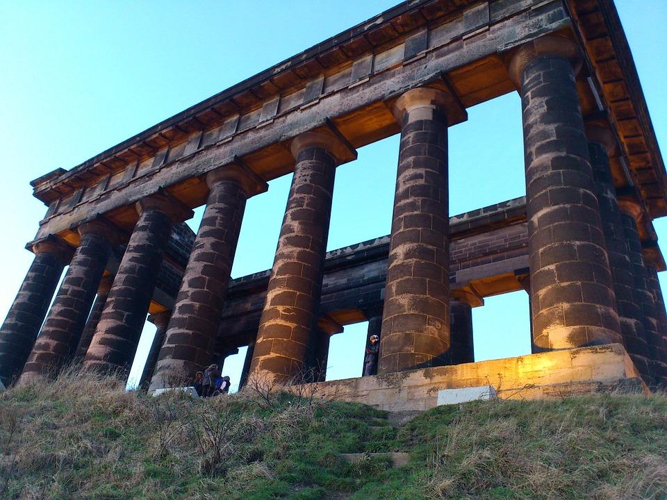 Monument, Penshaw, Pillars, Columns, Landmark, History