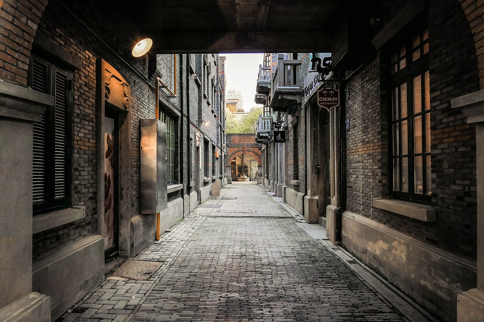 Alley, Retro, No One, History, Chinese Style