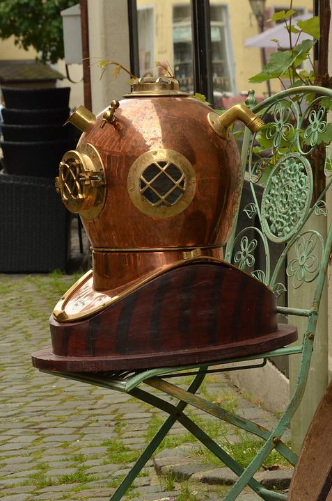 Diving, Divers Helmet, Antique, Oddities, History