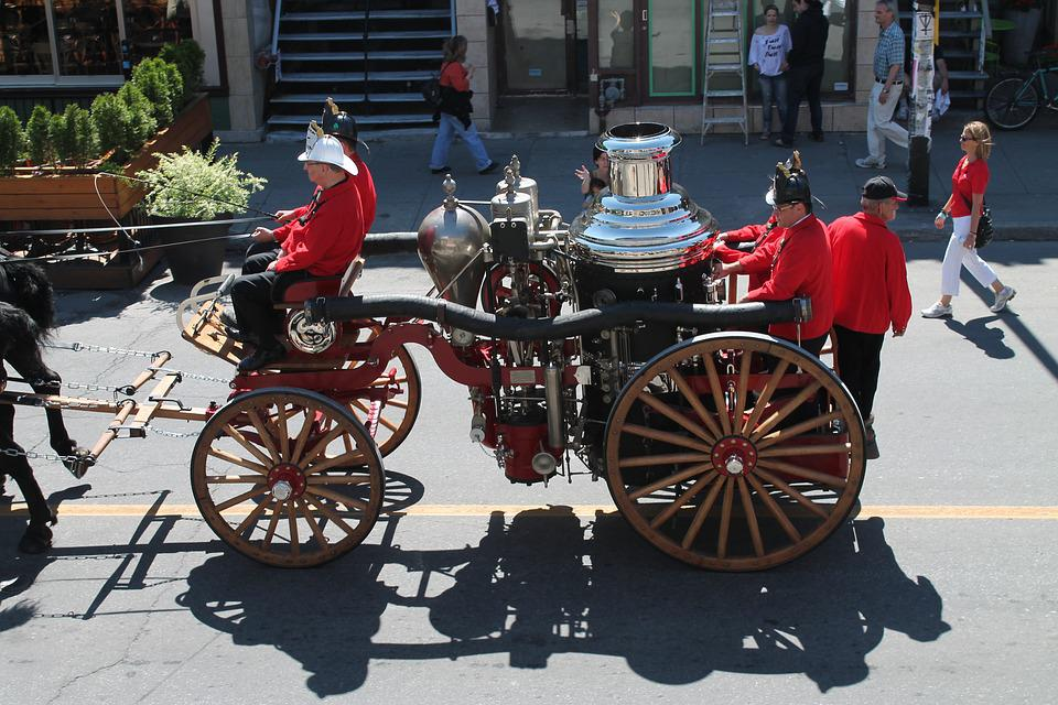 Free photo History Older Vehicles Horses Firefighter Truck - Max Pixel