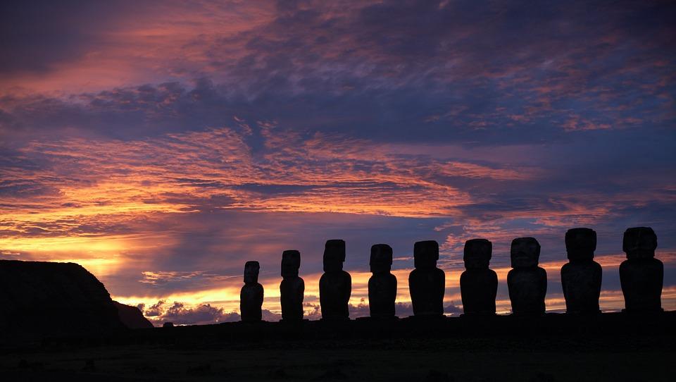 Moai, Sunrise, Easter Island, History, Culture