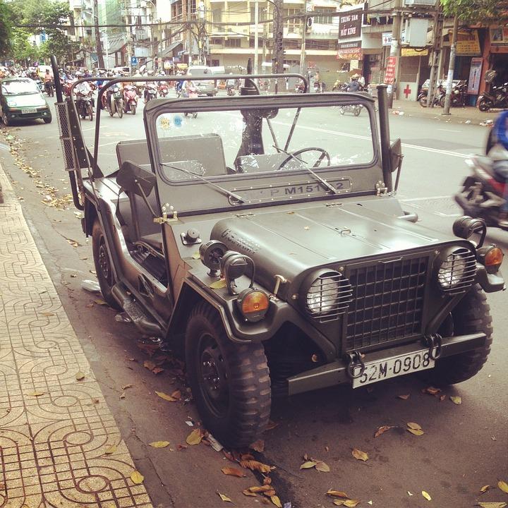 Vietnam, Ho Chi Minh, Saigon, 2013, Military Jeep