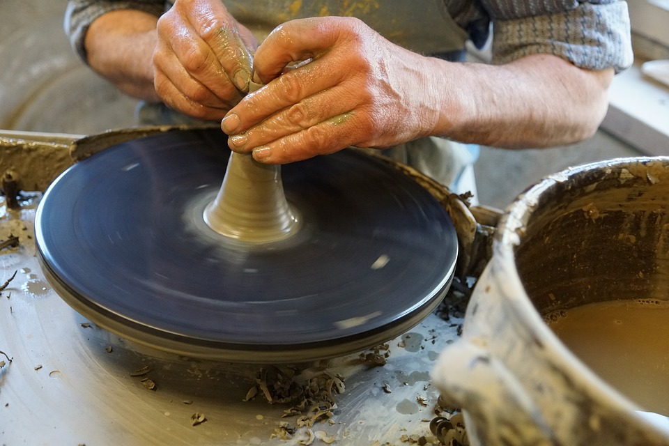 Work, Potters, Hand, Hand Labor, Hobby, Ceramic