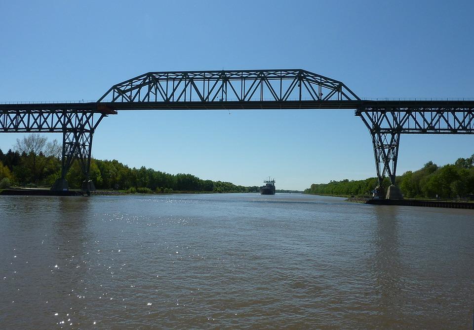 Bridge, Hochdonn, Railway Bridge, Waters, Nok