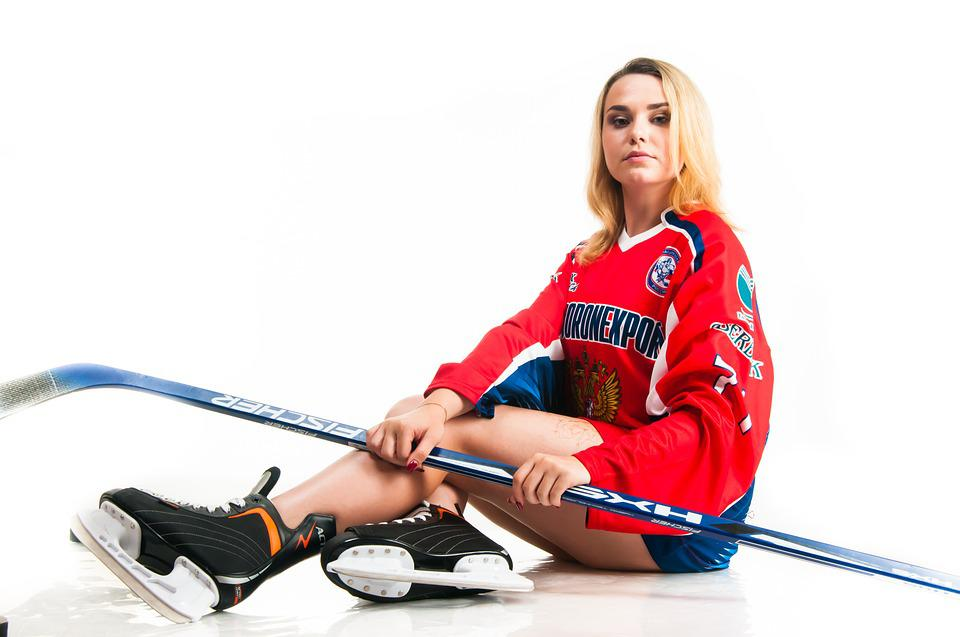 Girl, Woman, Sports, Hockey, Young, Model
