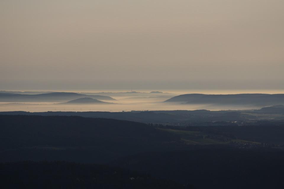 Mountains, Hegau, Hohenhewen, Panorama, Distant View