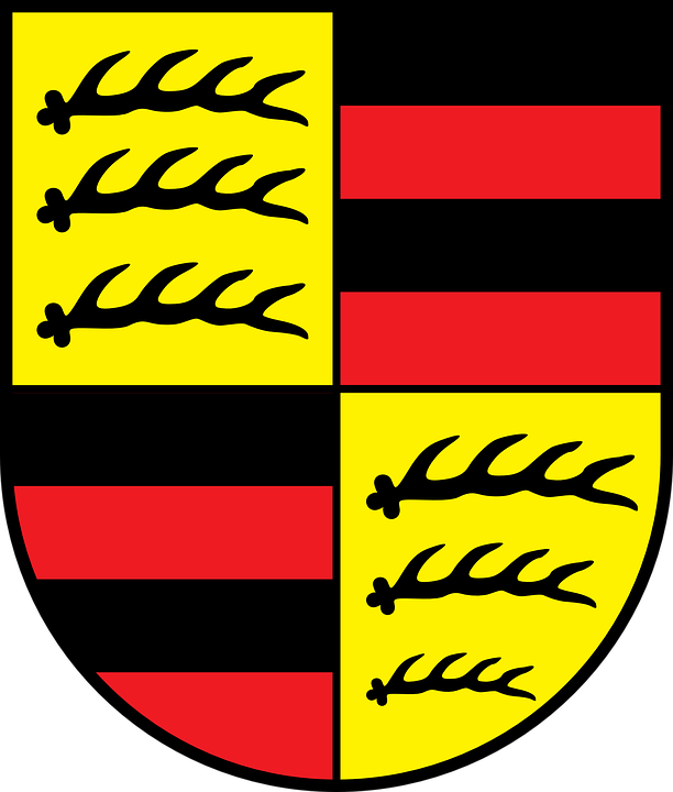 Red, Black, Yellow, Coat, Arms, Hohenzollern